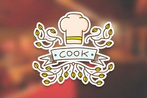Cook emblem logo templates