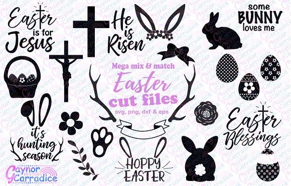 Easter svg bundle in Illustrations