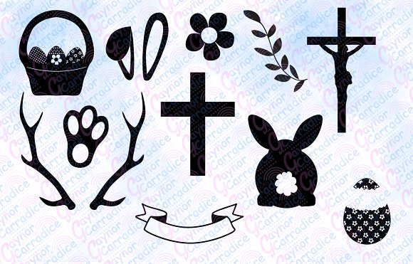 Easter svg bundle in Illustrations - product preview 1