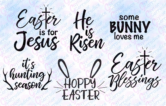 Easter svg bundle in Illustrations - product preview 3
