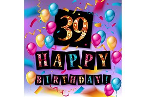 39 Years Birthday Celebration