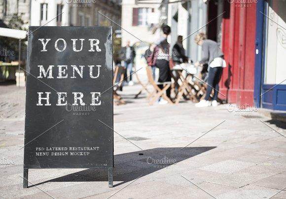 Restaurant Menu Sign Mockup