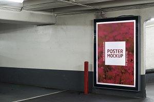 Parking garage poster mockup