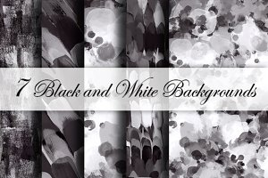 7 Black and White backgrounds