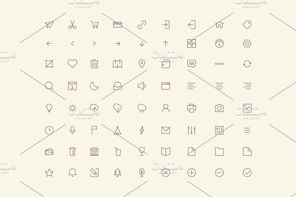 Vector User Interface Icons Set
