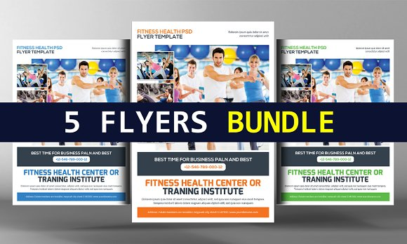 5 Fitness Flyers Bundle