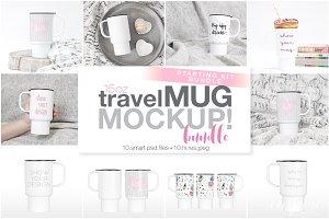15oz Plastic Travel Mug Mockup Bundl