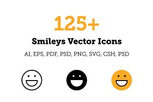 125+ Smileys Vector Icons