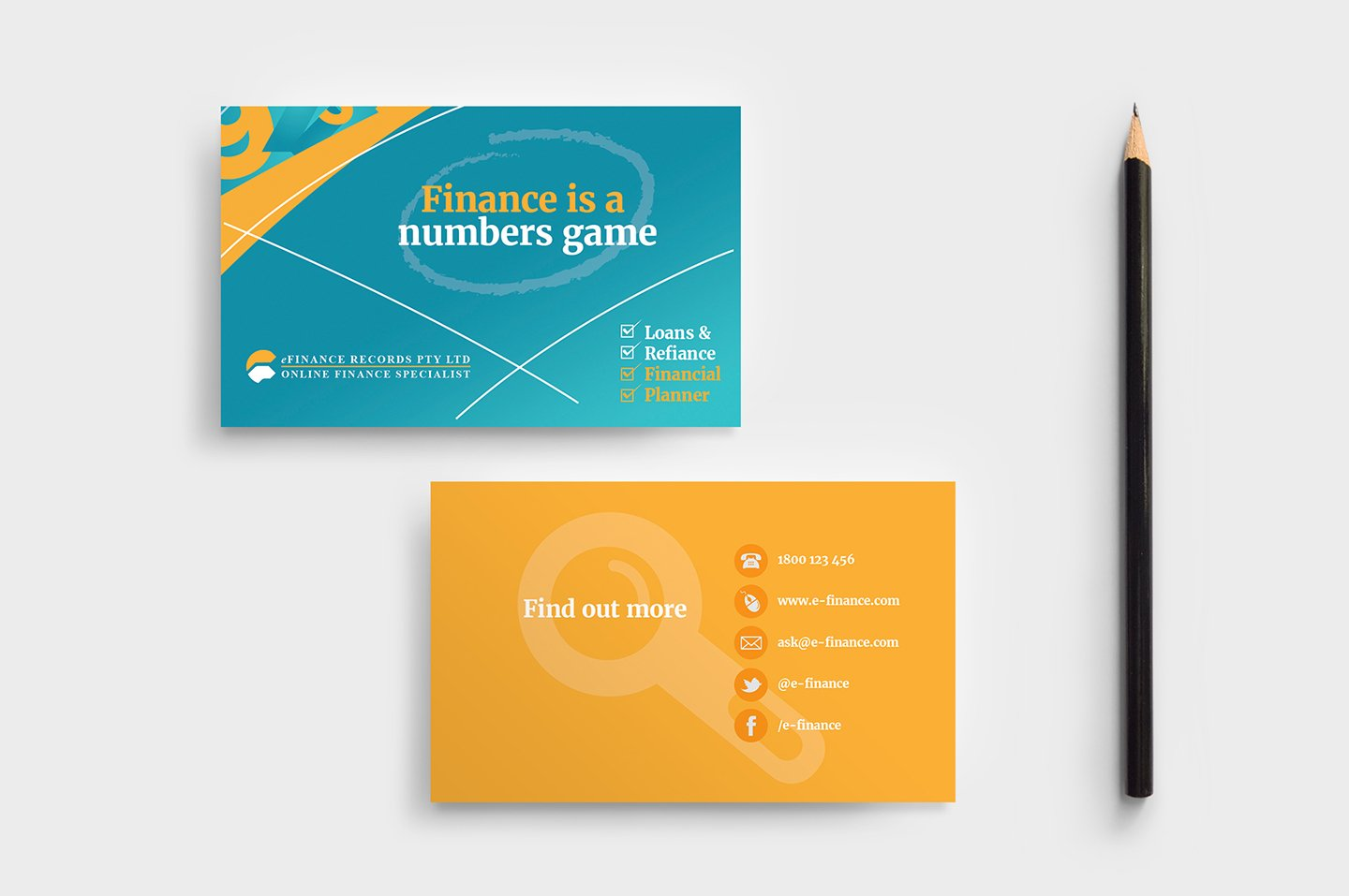 eFinance Business Card Template ~ Business Card Templates ~ Creative ...