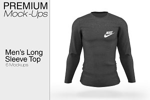 Men's Long Sleeve Top Mockup