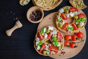 Italian appetizer Friselle