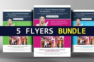 5 Spa Corporate Flyers Bundle