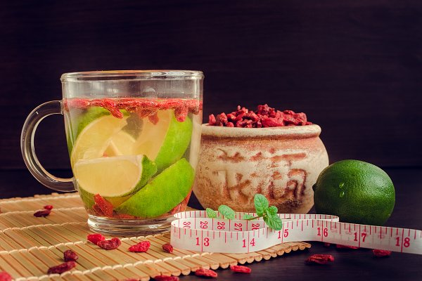 Cup Of Delicious Dietary Goji Berry Tea High Quality Food Images