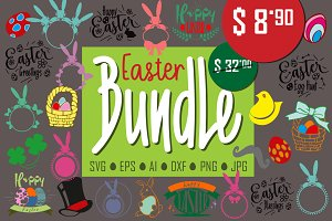 Easter Svg Bundle Svg monogram