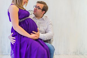 Beautiful couple: pregnant woman and man