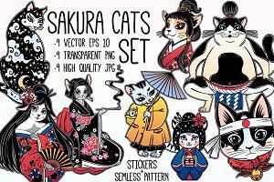 SACURA CATS SET