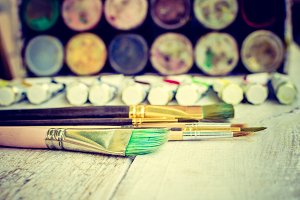 Artist paint brushes