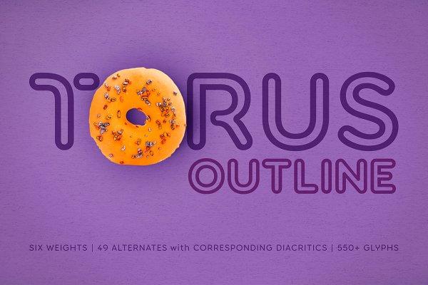 Torus Outline –6 Font Family