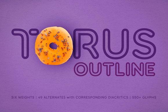 Torus Outline 6 Font Family