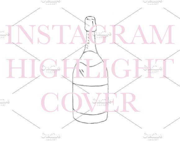 Instagram Highlight Champagne Bottle