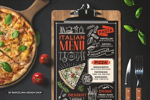 Pizza Menu, Italian Food
