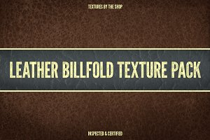 Leather billfold texture pack