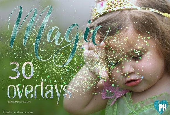 30 Magic Glitter EFFECT Overlays