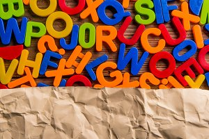 Colorful plastic letters