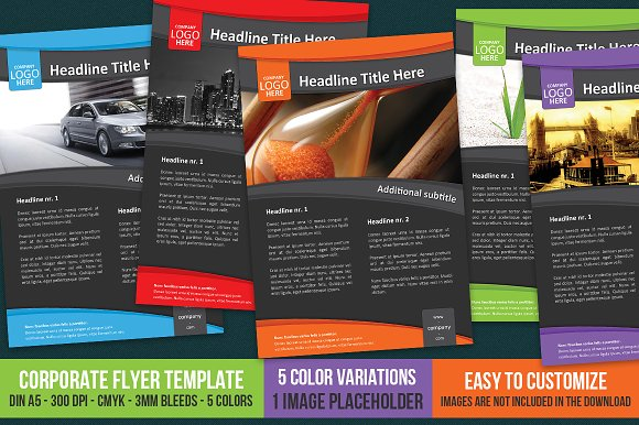 Corporate Flyer Template A Flyer Templates Creative Market - A5 brochure template