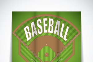 Baseball tri-fold brochure