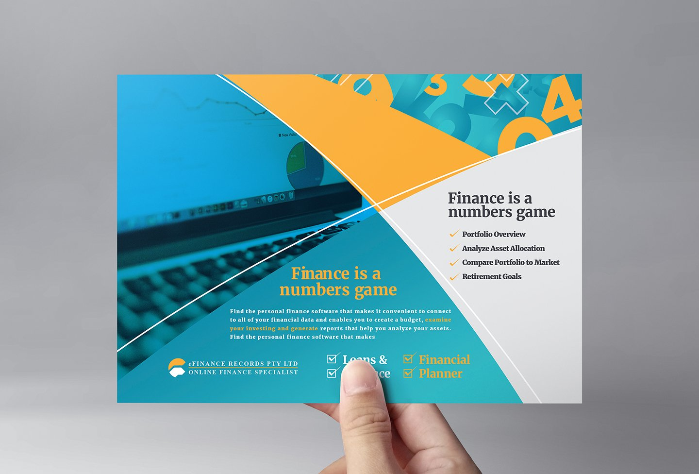 finance accountant flyer template flyer templates creative market