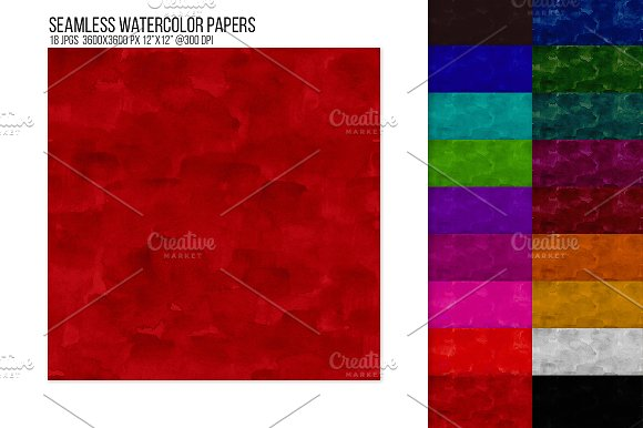 Seamless Watercolor Papers