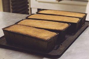 Artisan bread mold freshly