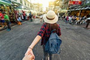 traveler and tourist concept