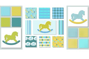 32 Kids patterns + toy horses