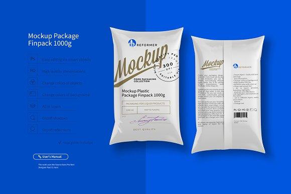 Download Mockup Package Finn Pack 1000g
