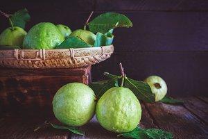 Fresh guavas