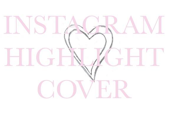 Instagram Highlight Cover Heart in Instagram Templates