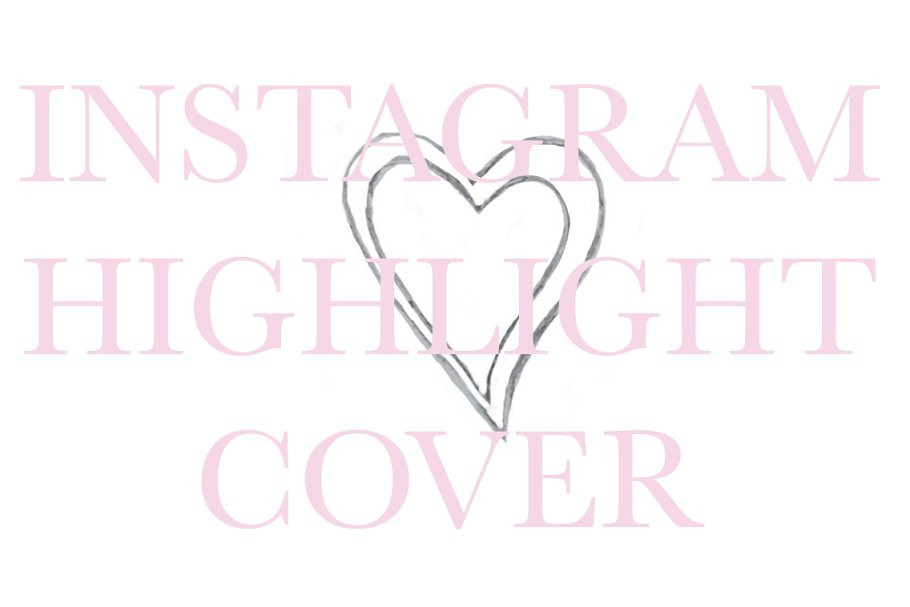 a0b8ae24349a Instagram Highlight Cover Icon Heart ~ Instagram Templates ...