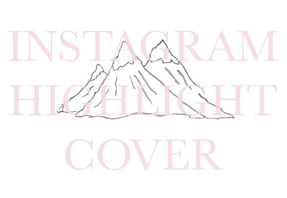 Instagram Highlight Cover Mountains