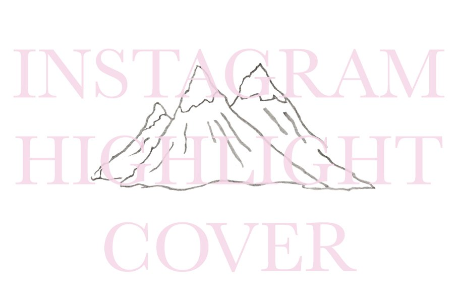 Instagram Highlight Cover Mountains in Instagram Templates