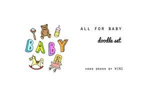 Baby Shower Doodle Set