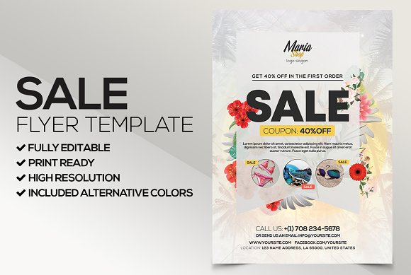 big sale psd flyer template flyer templates creative market