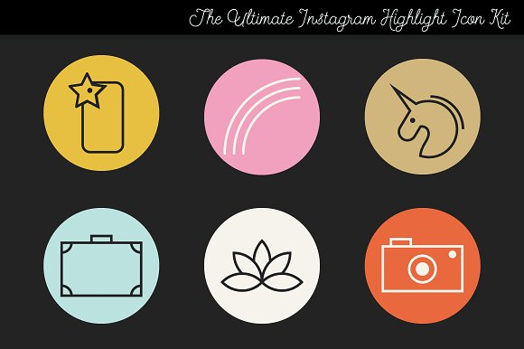Instagram Story Highlight Icons 1 in Instagram Templates - product preview 1