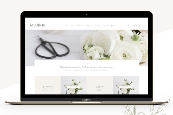 WordPress Portfolio Themes: Lovely Confetti - Portfolio eCommerce Genesis theme ka