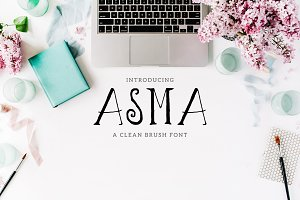 Asma Brush 3 Font Family Pack