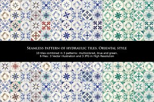 Patterns of oriental tiles