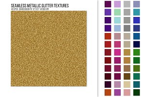 Seamless Metallic Glitter Textures