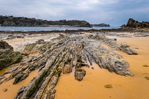 Low tide in the Cantabrian Sea