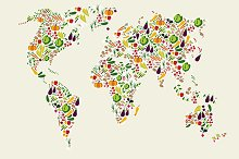 Vegetables in heart shape